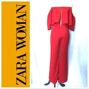 Exc Cond ~ Zara Woman Off the Shoulders Pant Suit